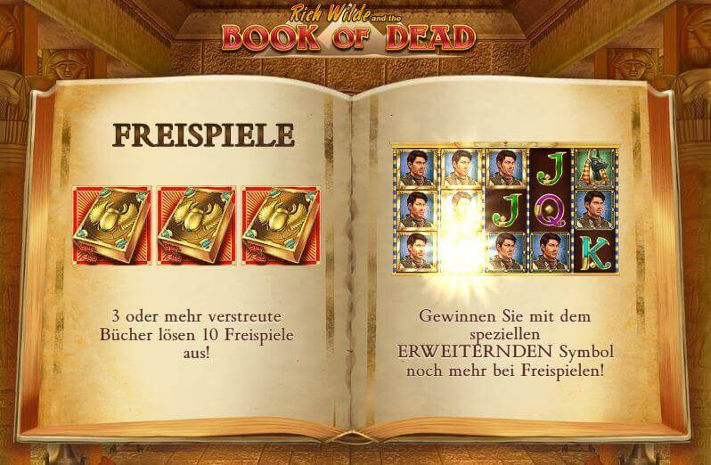 online casinos with book of dead